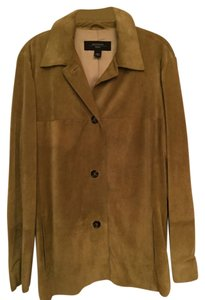 Max Mara Suede Sage Leather Jacket