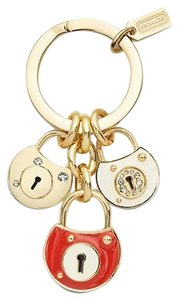 Coach Coach Pave Locks Keychain