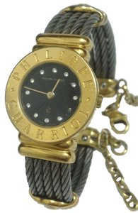 Charriol Authentic Philippe Charriol St-Tropez 18k Gold Plated 12P Diamond Watch