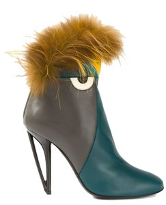 Fendi Turquoise and Gray Boots