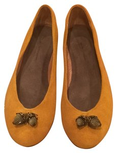 Anthropologie Yellow Suede Flats