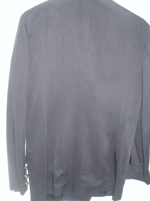 Express Black Jacket Black Double Breasted Long Jacket Fitted Jacket Blazer Image 1