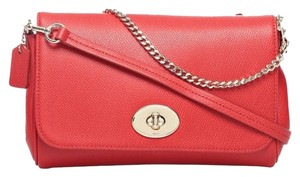 Coach Mini Ruby Wristlet Red Cross Body Bag