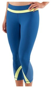 Lululemon New Without Tags Lululemon Inspire Crops Blue Yellow Size 4