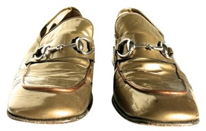 Gucci Gold with Silver Horsebit Flats