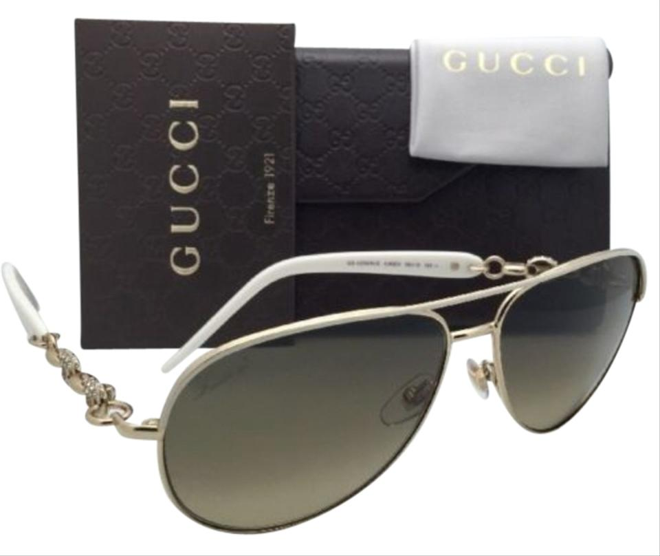 b1d85c363346 Gucci New GUCCI Sunglasses GG 4239 N S 0JKED Ivory White   Gold Frame ...