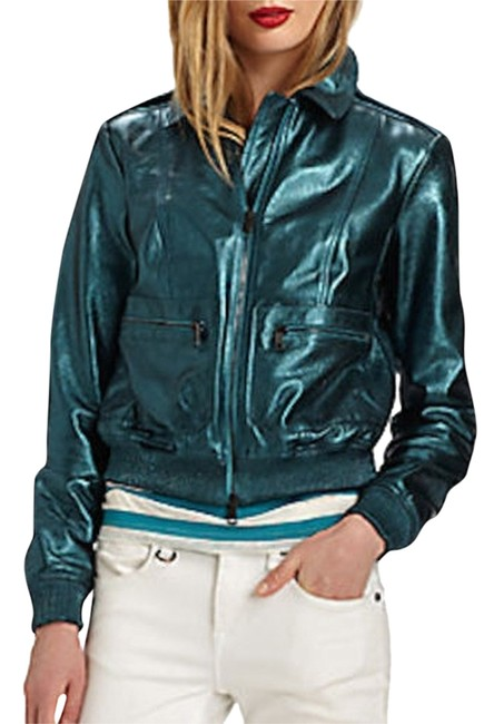 Preload https://img-static.tradesy.com/item/8610178/burberry-green-new-metallic-leather-nova-check-biker-38-jacket-size-4-s-0-1-650-650.jpg