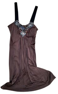 Alberta Ferretti Beaded Size Medium Silk Dress