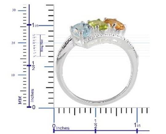 Other Genuine Sky Blue Topaz, Citrine and Peridot 3 Stone Sterling Silver Ring, 2.35cts Image 3