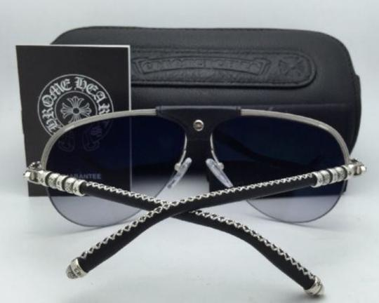 Chrome Hearts CHROME HEARTS Sunglasses BALLS BS-BKL Silver & Leather w/Grey Fade