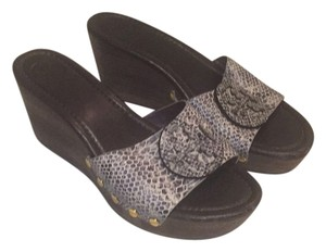 Tory Burch Black tan Wedges