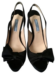 Prada Slingback Pump Black Pumps