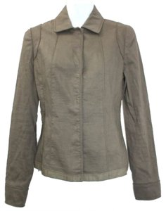 Elie Tahari Linen Jacket BROWN Blazer