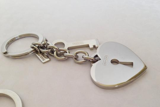 Coach Coach Signature Heart and Key Keychain