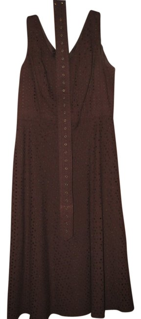 Preload https://img-static.tradesy.com/item/861114/chocolate-brown-positive-attitude-long-workoffice-dress-size-12-l-0-0-650-650.jpg
