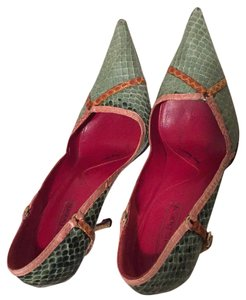 Cesare Paciotti Green/multi Pumps