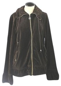 Adrienne Vittadini Dark Velour BROWN Jacket