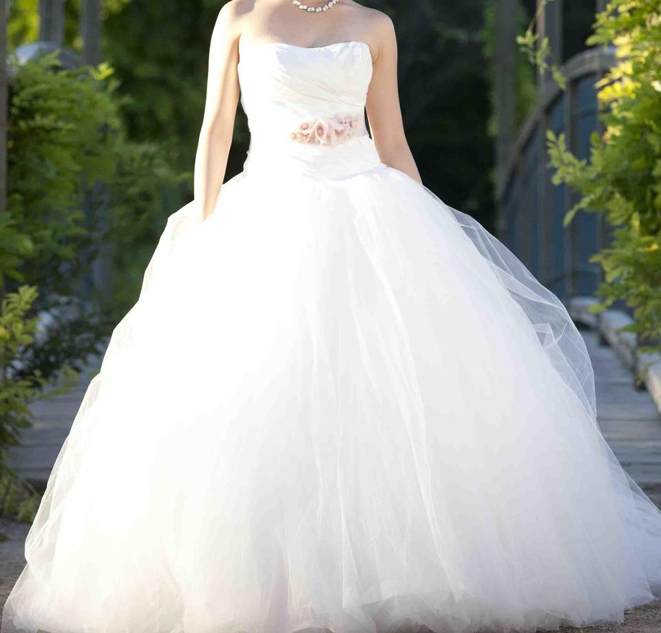 Bodice Wedding Gown: Vera Wang Ball Gown With Asymmetrically Draped Bodice
