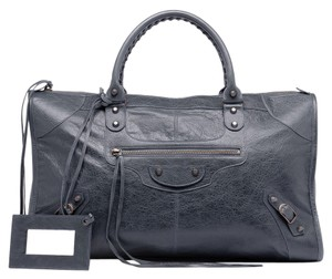 Balenciaga anthracite lambskin 'Classic City' convertible tote bag. Tote in Anthracite