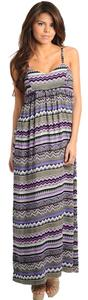 purple, grey Maxi Dress by Paradis Miss