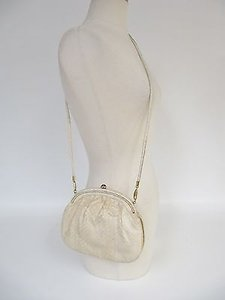 Other Vtg Walter Katten Snakeskin Karung Evening W Mirror Shoulder Bag