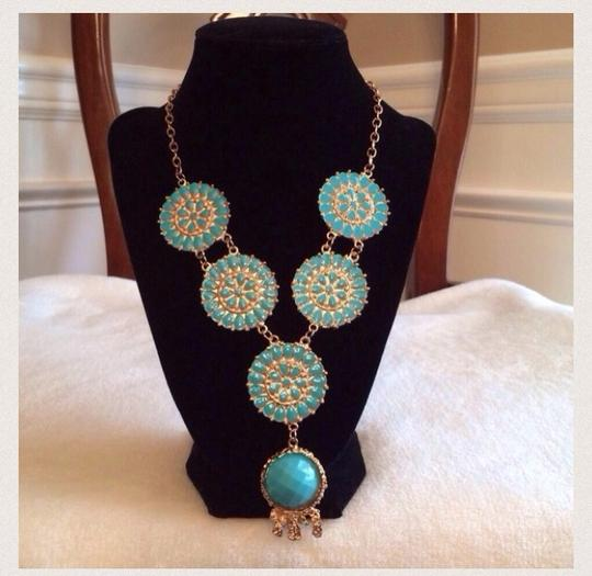 Other BUBBLE HOT PINK & Blue Turquoise NECKLACE