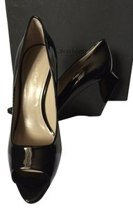 Calvin Klein 8 New With Box black Wedges