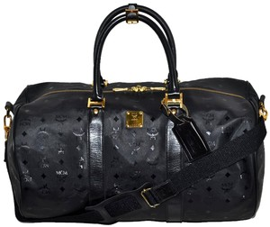 MCM Modern Creation Munchen Modern Creation Munich Visetos Visetos Pattern Visetos Made In German German Designer Michael Black Travel Bag