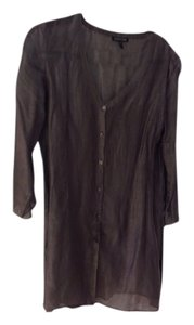 Eileen Fisher Button Down Shirt Grey