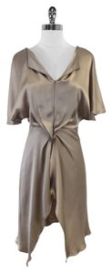 Vanessa Bruno short dress Taupe Silk Flowy Short Sleeve on Tradesy