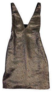 Diane von Furstenberg short dress Gold Metallic Sleeveless on Tradesy