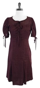 Marc by Marc Jacobs short dress Burgundy Print Cotton on Tradesy