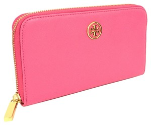 Tory Burch Robinson Small Logo Zip Continental Wallet