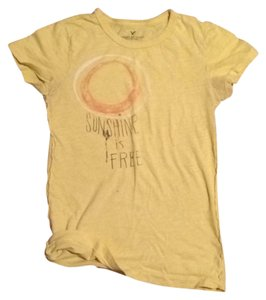 American Eagle Outfitters Sunshine Is Free T Shirt Yellow