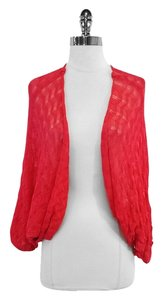 Missoni Red Cotton Blend Knit Cardigan