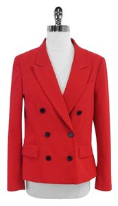 3.1 Phillip Lim Red Cotton Blend Double Breasted Blazer