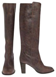 J.Crew Vintage Leather Heeled Vintage brown Boots