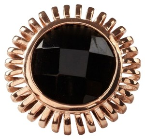 MRE Jewelry Rose Gold Sunburst Onyx Ring