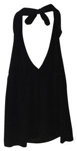 Michael Stars Velvet Halter Velvet Halter Holiday Velvet Top Black