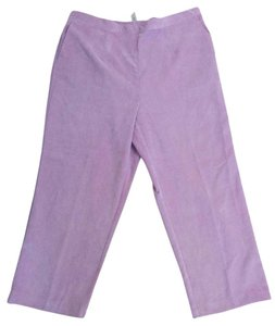 Alfred Dunner Elastic Waist Straight Pants Purple