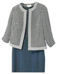 Laundry by Shelli Segal Blue and White Blazer