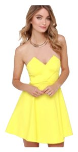 Lulu*s short dress Yellow Lulus on Tradesy