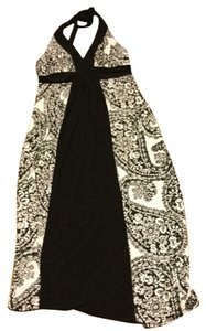 Black, and white Maxi Dress by Bisou Bisou