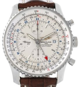 Breitling Breitling Navitimer World Chronograph GMT Brown Strap Watch A24322