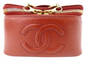 Chanel (Reduced Priced)Chanel Cosmetic Mini Caviar Bag Caviar Red