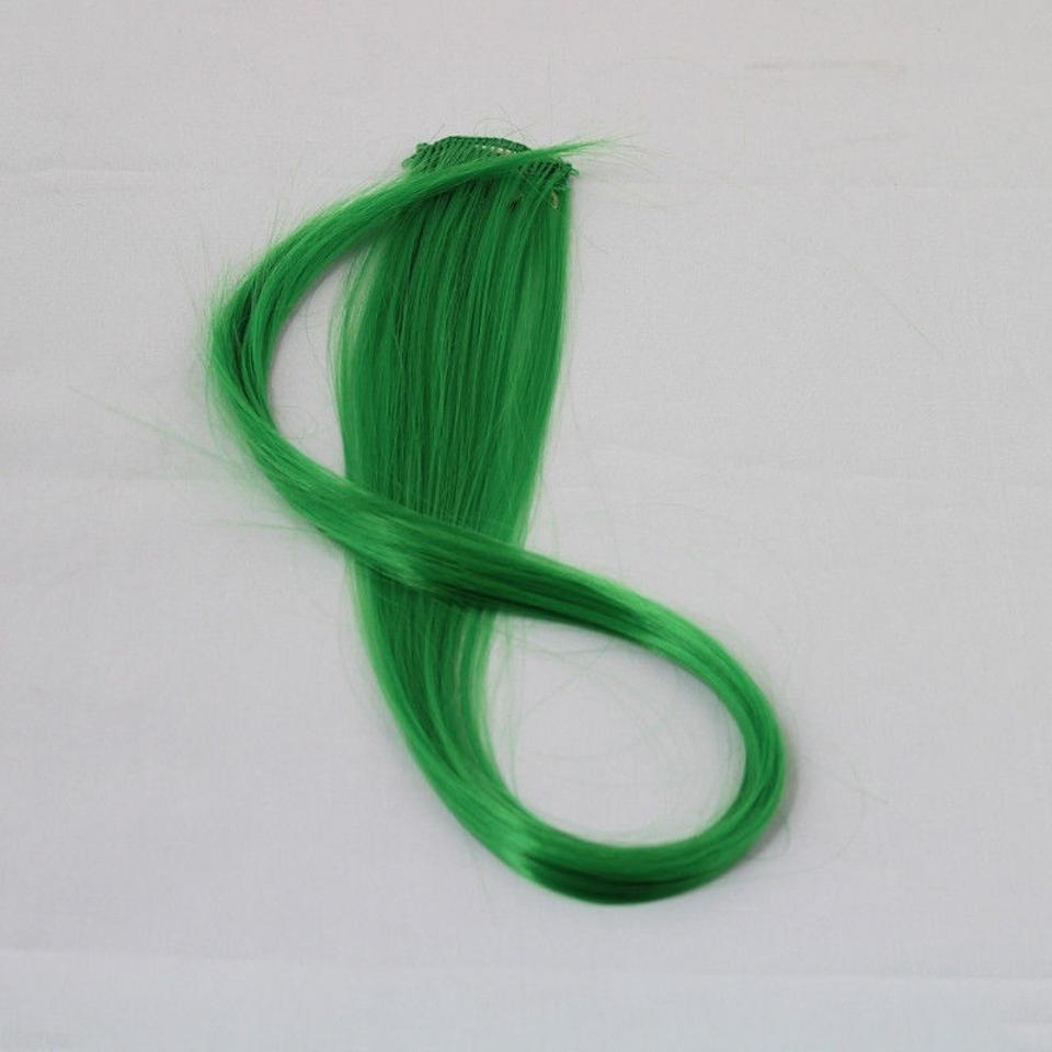 Green 1pc Emerald Clip In Extension Free Shipping Hair Accessory