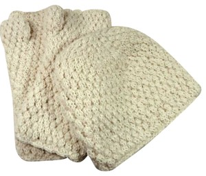 Peruvian Trading Co. Alpaca Wool Knit Hat & Armwarmers Set, Ivory