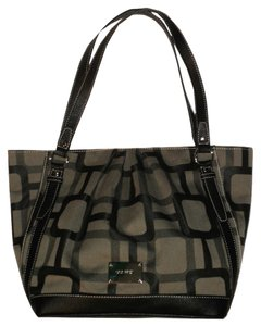 Nine West Logo Rouched Tote in Black