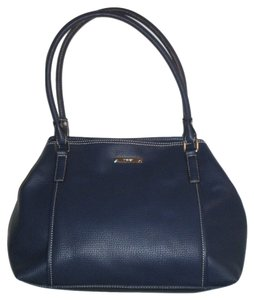 Nine West Slouchy Magnetic Button Compartments Tote in Blue