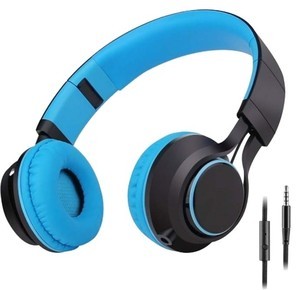 Sound Intone Sale -Sound Intone Stereo Lightweight Folding Headset - Stretchable Headband - Blue